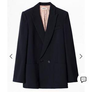 Zadig&Voltaire women's satin tailored suit jacket